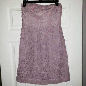 J. CREW Purple Floral Design Strapless Dress Size0